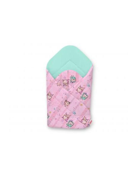 Rożek miękki - sówki różowo-miętowe/miętowy