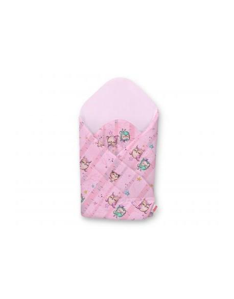 Rożek usztywniany - sówki różowo-miętowe/różowy