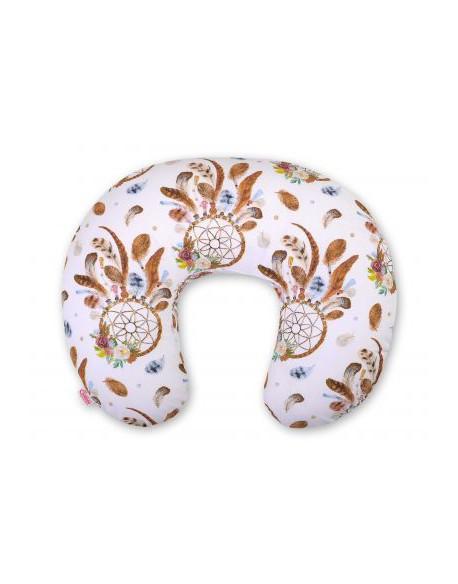 Poduszka do karmienia- łapacze snów białe