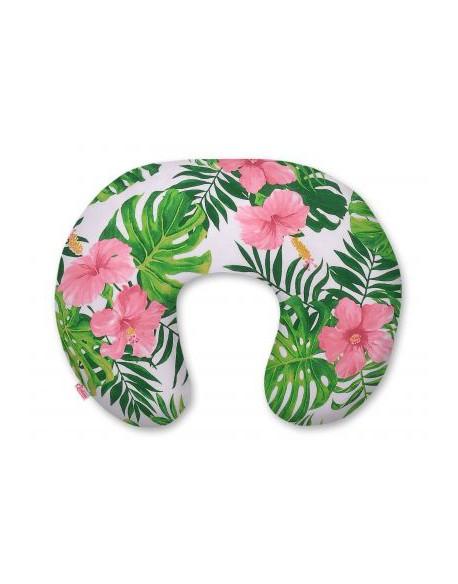Poszewka na rogala- kwiaty tropikalne