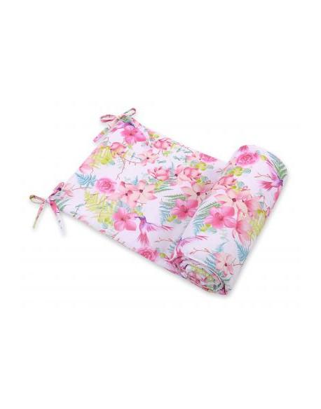 Uniwersalny ochraniacz do łóżeczka - koliberki w kwiatach
