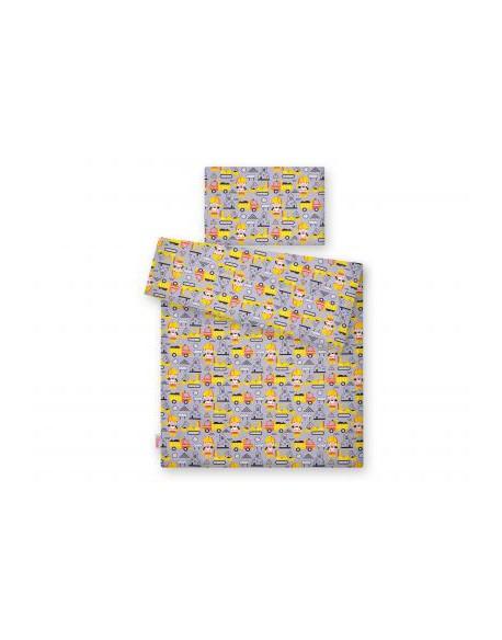 Pościel 2-cz - koparki żółte