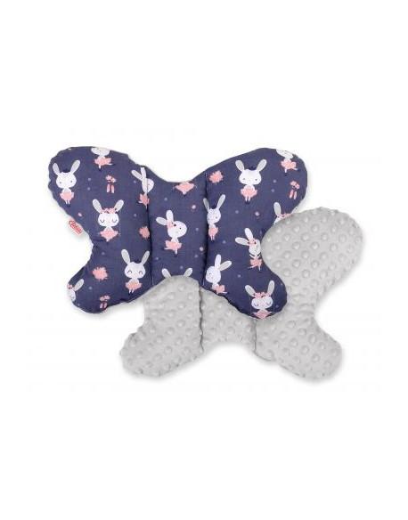 Poduszka antywstrząsowa BOBONO motylek - króliczki baletnice granatowe