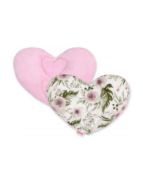 Poduszka antywstrząsowa BOBONO motylek - peonie różowe/różowy