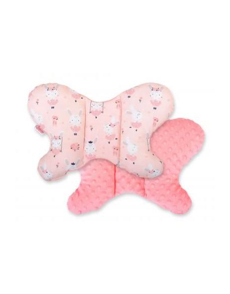 Poduszka antywstrząsowa BOBONO motylek - króliczki baletnice różowe/pudrowy róż