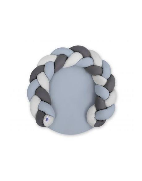 Gniazdko dla niemowląt/ mata do zabawy 2 w 1 - brudny niebieski-szary-antracyt