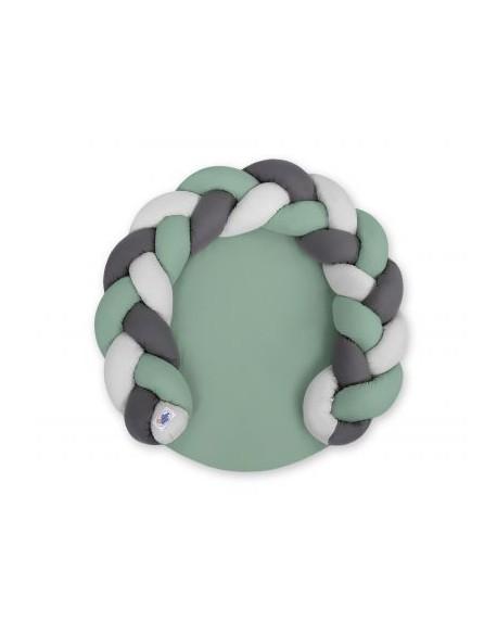 Gniazdko dla niemowląt/ mata do zabawy 2 w 1 - szałwia-szary-antracyt