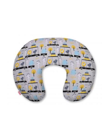 Poduszka do karmienia- zwierzątka w autkach szare
