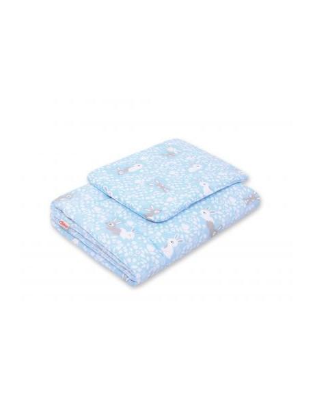 Pościel 2-cz 75x100cm NEWBORN - króliczki niebieskie