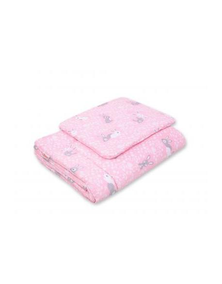 Pościel 2-cz 75x100cm NEWBORN - króliczki różowe