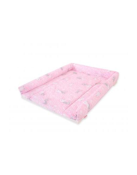 Pokrowiec nakładka na przewijak na komodę - króliczki różowe