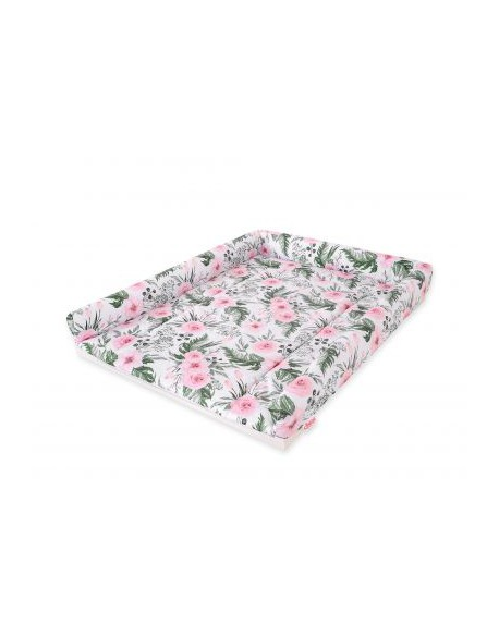 Pokrowiec nakładka na przewijak na komodę - peonie różowe