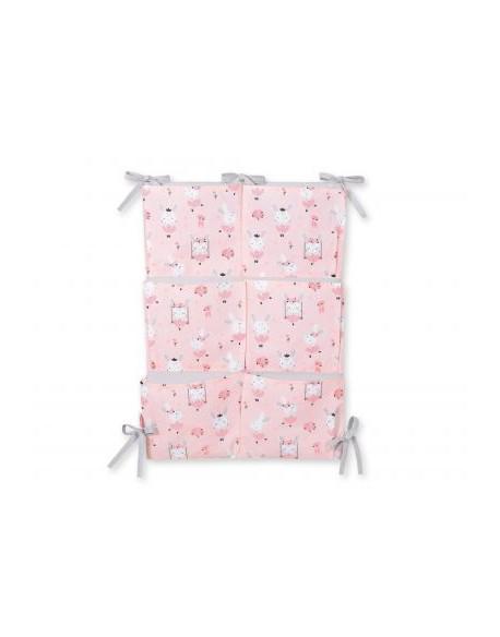 Przybornik uniwersalny z kieszonkami - króliczki baletnice różowe