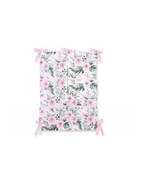 Przybornik uniwersalny z kieszonkami - peonie różowe
