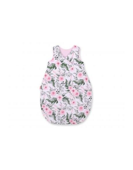 Śpiworek niemowlęcy - peonie różowe