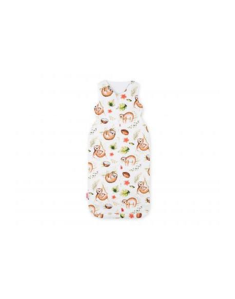 Śpiworek niemowlęcy XXL - leniwce beżowe