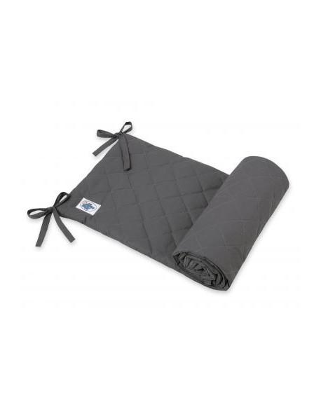 Uniwersalny pikowany ochraniacz do łóżeczka - antracyt