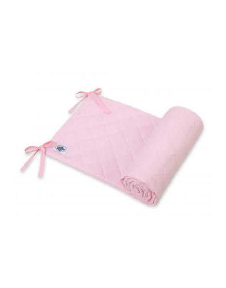 Uniwersalny pikowany ochraniacz do łóżeczka - różowy