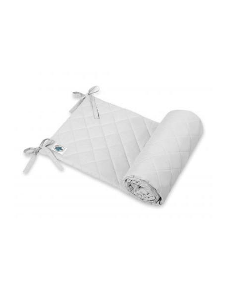 Uniwersalny pikowany ochraniacz do łóżeczka - szary