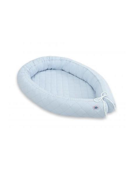 Kokon niemowlęcy pikowany - niebieski