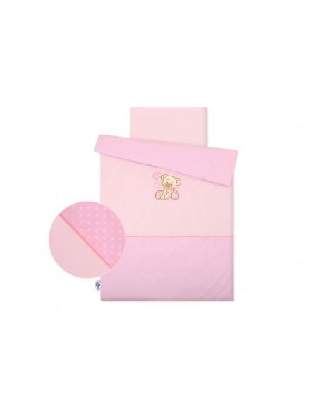Pościel 2-cz Miś z kokardką różowy