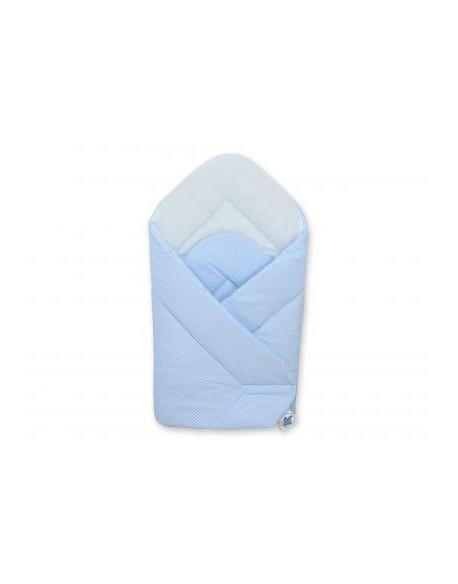 Rożek miękki - Miś z kokardką niebieski