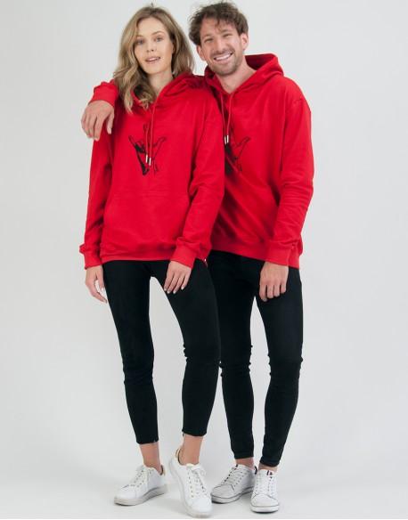 Bluzy dla pary Love sign czerwone