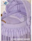 Kosz Mojżesza z budą- Little Prince/Princess fioletowy