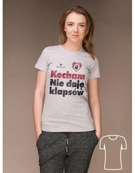 Koszulka Kocham. Nie daję klapsów