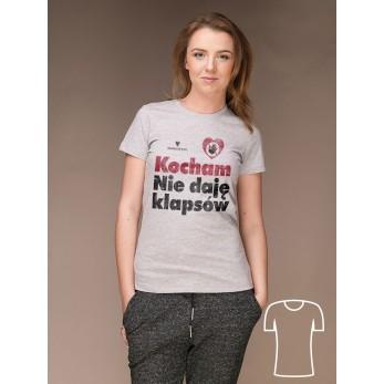 Koszulka Kocham. Nie daję klapsów [damska]