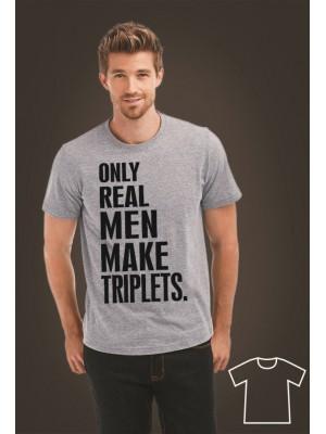 OUTLET/Koszulka dla taty bliźniaków Only real men make