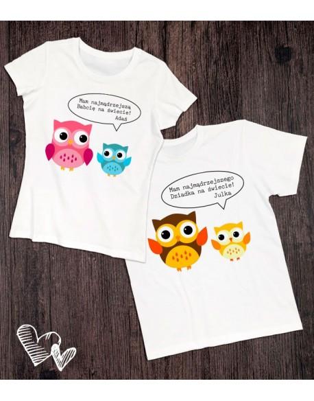 Koszulki dla babci i dziadka Sowy