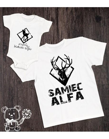 Koszulka i body/koszulka dla taty i syna Samiec alfa