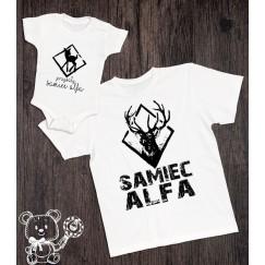 Koszulka i body dla taty i syna Samiec alfa
