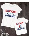 Koszulka i body dla mamy i syna/córki