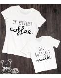 Koszulka i body dla mamy i dziecka Ok but first