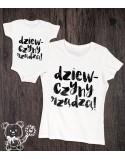 Koszulka i body dla mamy i córeczki Dziewczyny rządzą