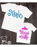 Koszulki dla taty i córki Księżniczka i król