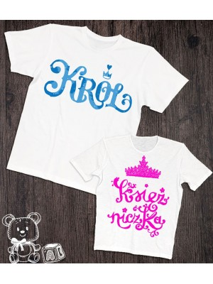 Koszulki dla taty i dziecka Royals
