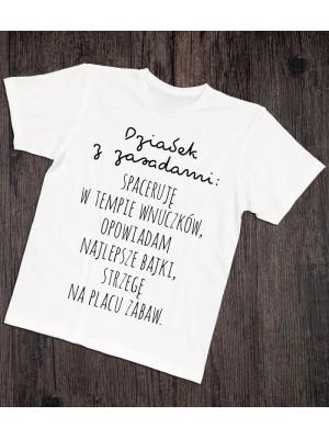 Koszulka dla dziadka Dziadek z zasadami