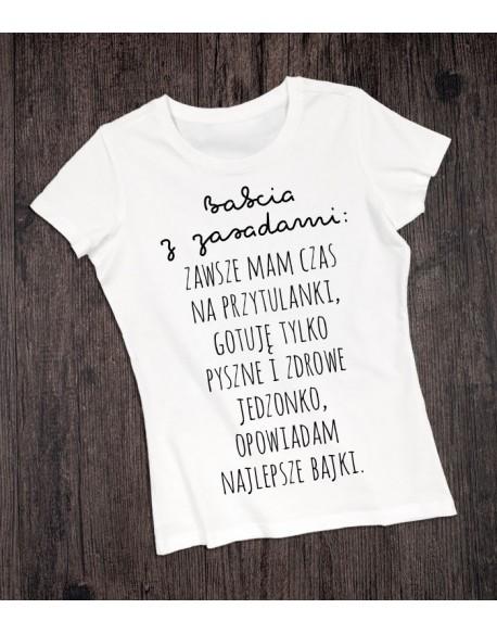 Koszulka na Dzień Babci Babcia z zasadami