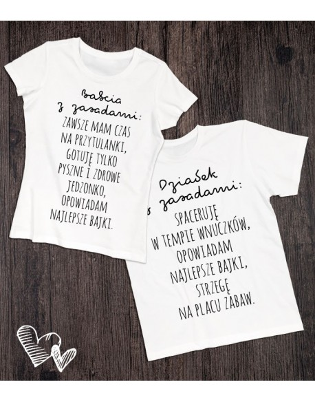 Koszulki dla babci i dziadka Zasady