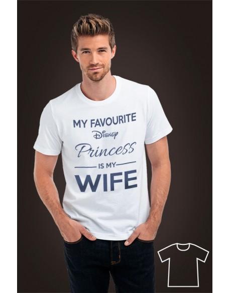 Koszulka My favourite Disney Princess is my wife/girlfriend