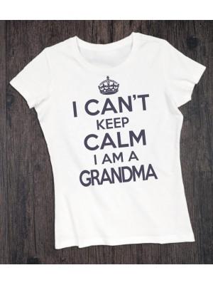 Koszulka dla babci I can't keep calm