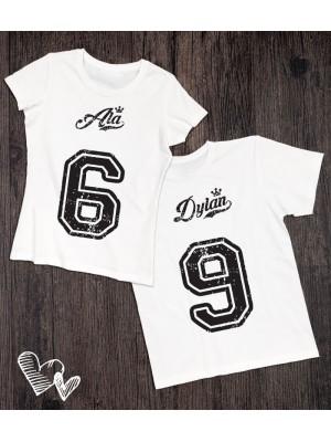 Koszulki dla pary 6 i 9 z imionami