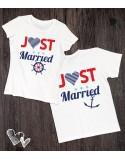 Koszulki dla nowożeńców Just Married