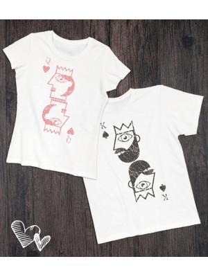 Koszulki dla pary Karty