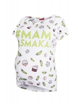 Koszulka ciążowa z nadrukiem Mam smaka