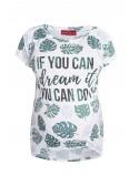 Koszulka ciążowa z nadrukiem Filodendron