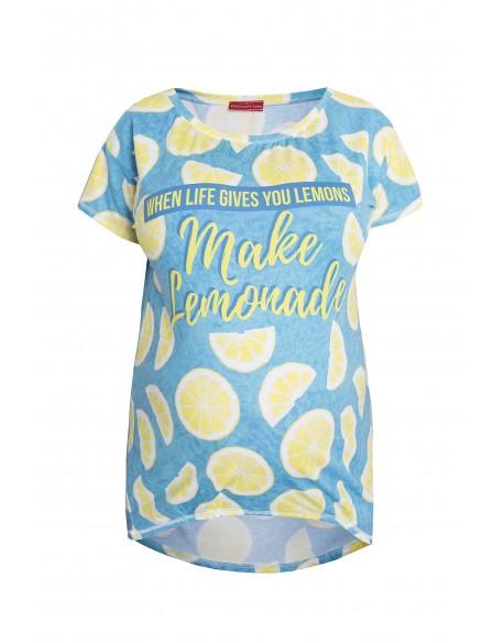 Koszulka ciążowa z nadrukiem Lemons